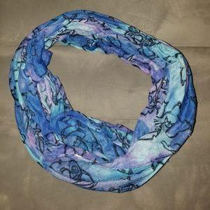 Women's Blue Stitch Infinity Scarf